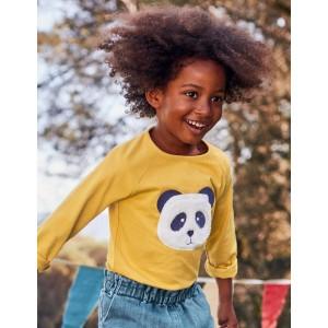Animal Face T-Shirt - Spicy Mustard Yellow Panda