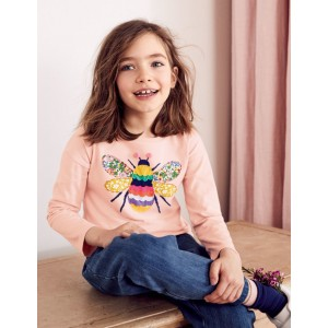 Big Applique T-Shirt - Provence Dusty Pink Bee