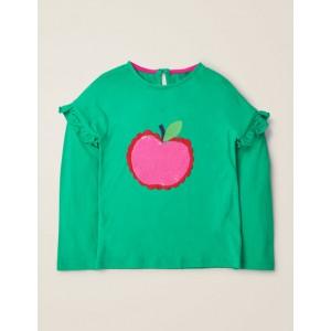 Colour-Change Sequin T-Shirt - Asparagus Green Apple