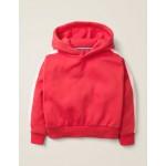Stripe Detail Hoodie - Carmine Red