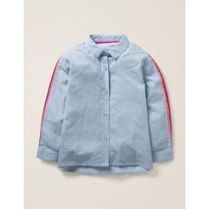 Fun Shirt - Provence Blue Ticking Stripe