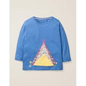 Adventure Applique T-Shirt - Elizabethan Blue Tent