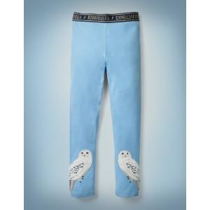Hedwig Applique Leggings - Mist Blue
