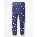 Stripe & Spot Leggings - Starboard Blue Painted Spot