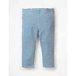 Stripe & Spot Cropped Leggings - Elizabethan Blue/White