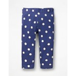 Stripe & Spot Cropped Leggings - Starboard Blue Painted Spot