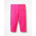 Stripe & Spot Cropped Leggings - Festival Pink Spot