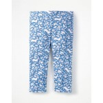 Fun Cropped Leggings - Elizabethan Blue Wild Ponies