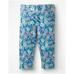 Fun Cropped Leggings - Sea Breeze Blue Forget Me Not