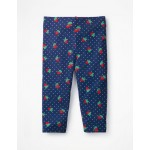 Fun Cropped Leggings - Starboard Blue Strawberry Spot
