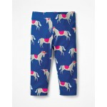 Fun Cropped Leggings - Blue Wave Festival Unicorns
