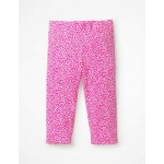 Fun Cropped Leggings - Pink Glo & White Sweet Berry