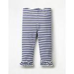 Ruffle Cropped Leggings - Blue Wave/White