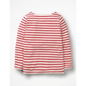 Breton T-Shirt - Ecru/Polish Red