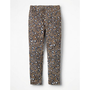 Cord Leggings - Soft Truffle Animal Print