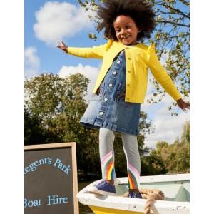 Applique Leggings - Grey Marl Rainbows