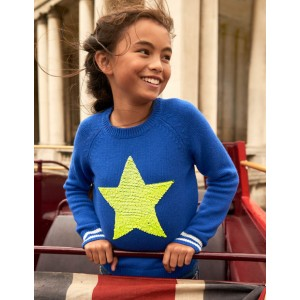 Happy Days Sweater - Duke Blue Star
