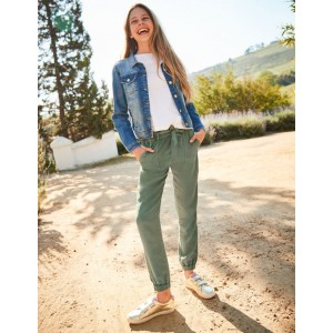 Tie-Waist Pants - Khaki Green