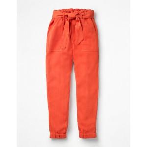 Tie-Waist Pants - Tropical Orange