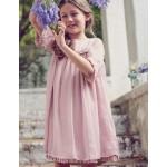 Sparkly Ruffle Chiffon Dress - Sugared Sweet Pea Lilac