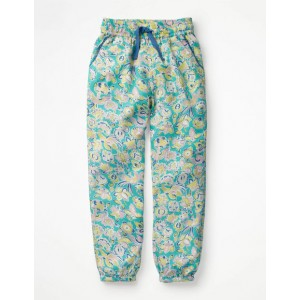 Relaxed Woven Trousers - Sea Breeze Tropical Paisley