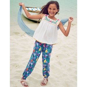 Relaxed Woven Trousers - Multi Indian Garden