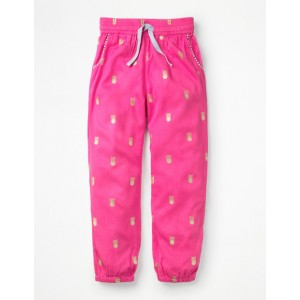 Relaxed Woven Trousers - Festival Pink Pineapples