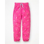 Relaxed Woven Pants - Festival Pink Pineapples