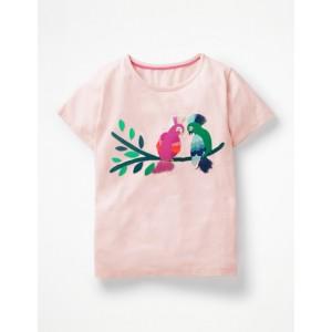 Safari Applique T-Shirt - Parisian Pink Birds