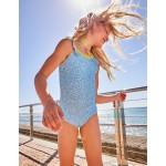 Flutter Back Swimsuit - Lake Blue Berries