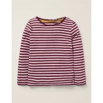 Sparkly Pointelle T-Shirt - Beetroot Purple/Gold Lurex