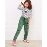 Twill Cargo Pants - Rosemary Green