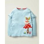 Fairy Applique T-Shirt - Cloudburst Blue Fairy
