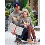 Festive Fair Isle Sweater - Grey Marl Fair Isle
