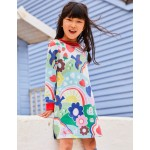 Cosy Printed Sweatshirt Dress - Multi Springtime