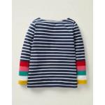 Everyday Breton - Ivory/Navy Rainbow Cuff