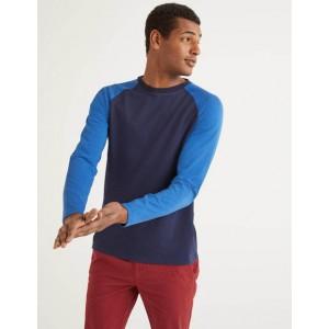 Long Sleeve Raglan T-Shirt - Blues Multi