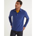 Long Sleeve Polo - Space Blue