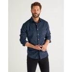 Cord Print Shirt - Navy Blue Daisy
