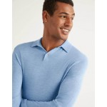 Amberley Knitted Polo - Ice Blue Marl