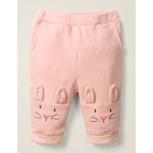 Bunny Knee Bottoms - Chalky Pink Marl Bunnies