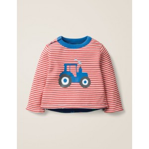 Reversible Printed T-Shirt - Ivory/Poppadew Red Tractor
