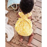 Frilly Bubble Romper - Mimosa Forget-Me-Not