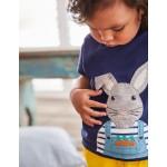 On-The-Farm T-Shirt - College Blue Bunny