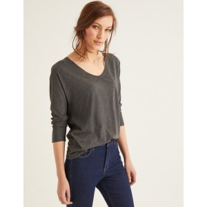 Supersoft Relaxed Voop Tee - Charcoal Marl