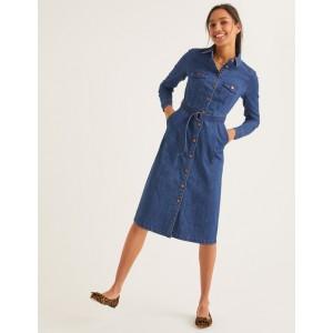 Lena Denim Shirt Dress - Mid Vintage Denim