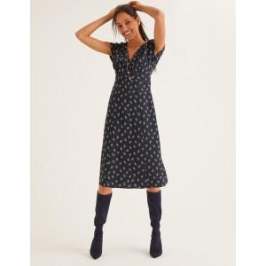 Rosemary Dress - Black, Petal Head Scatter