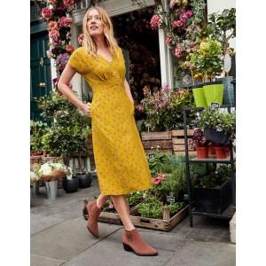 Rosemary Dress - Saffron, Petal Head Scatter