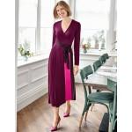 Laurie Jersey Dress - Beetroot Multi