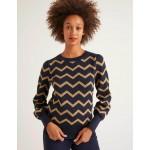 Antonia Sweater - Lurex Zig Zag